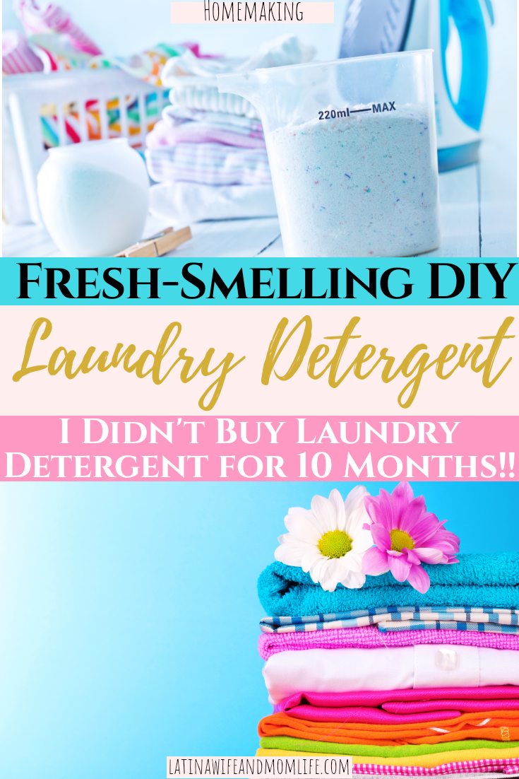 Want to save some money on store bought laundry detergent and enjoy a fun, fragrant And easy DIY in the process? Don't miss this simple tutorial on how to make DIY Laundry Detergent!