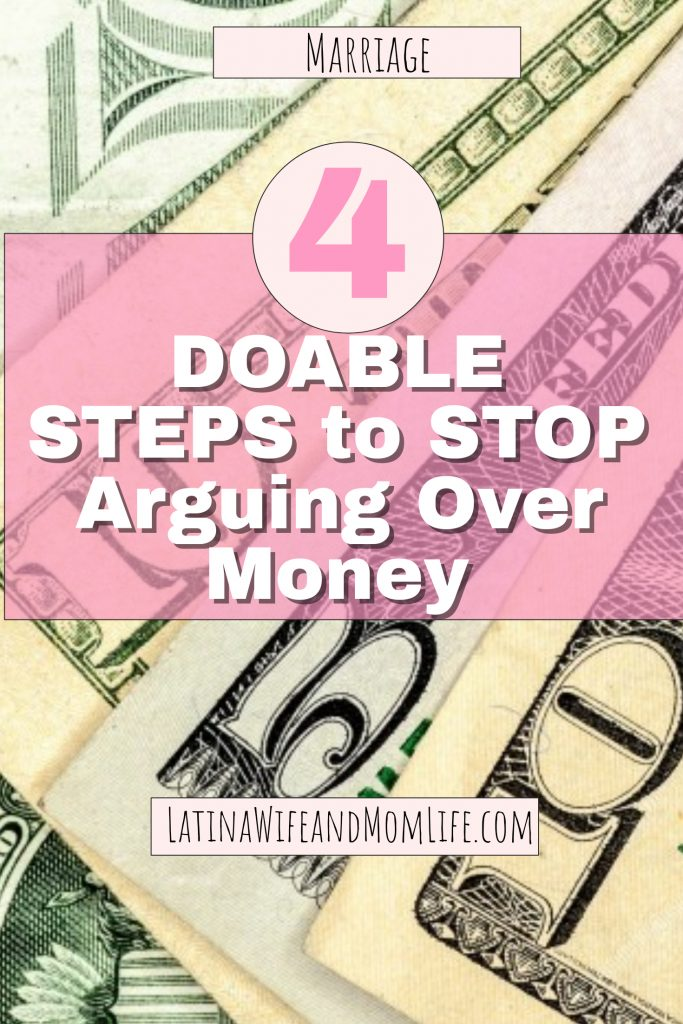 Do you ever just roll your eyes and place your hand on your head when your spouse asks you something like how much money there's left in the account? Don't miss these 4 Simple Ways to Stop Fighting Over Money!