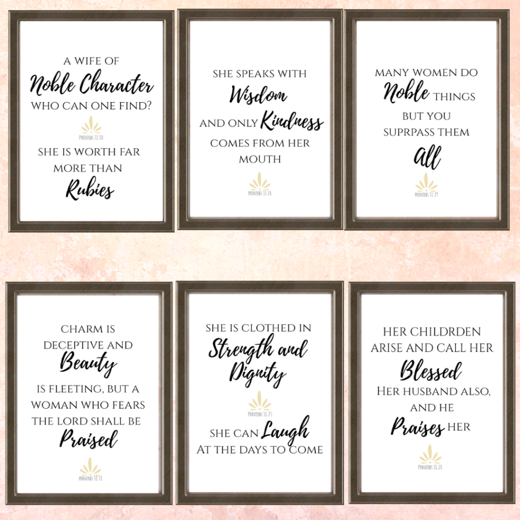 Proverbs 31 printables