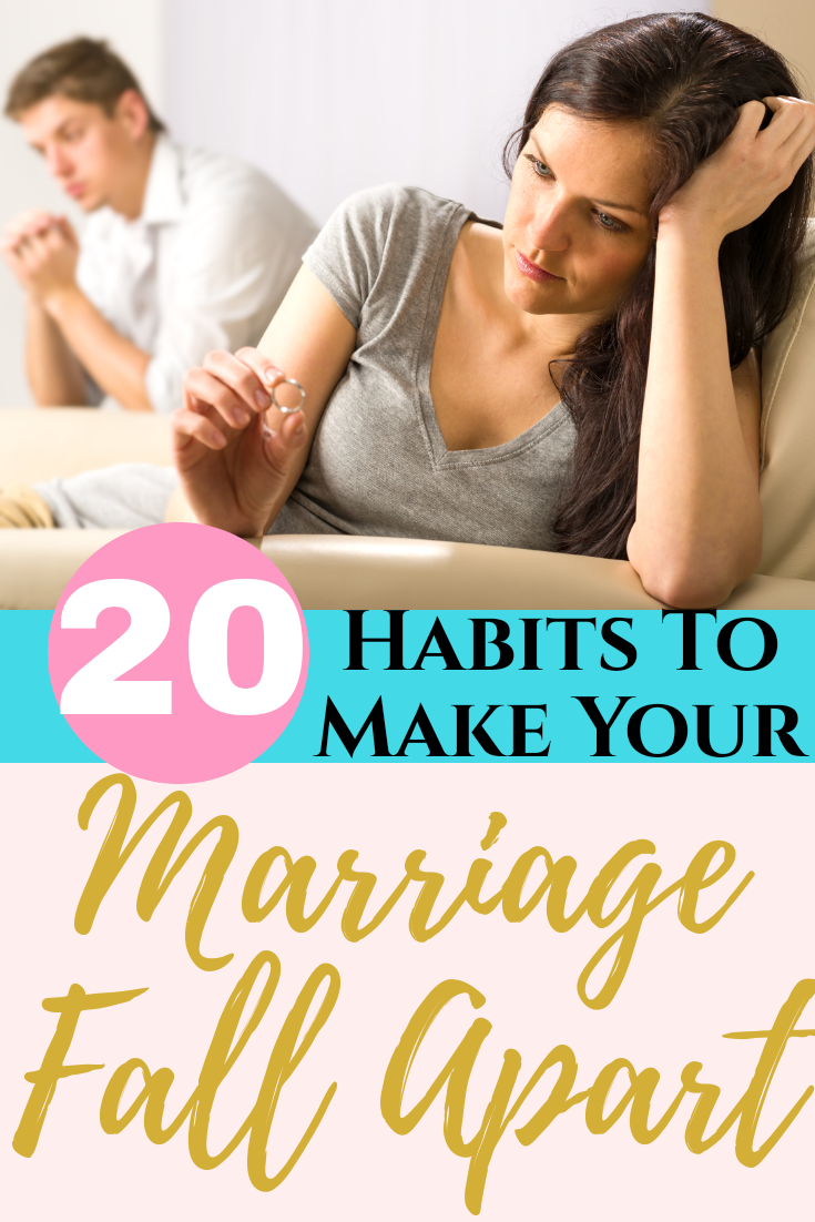 20 Habits to Make Your Marriage Fail