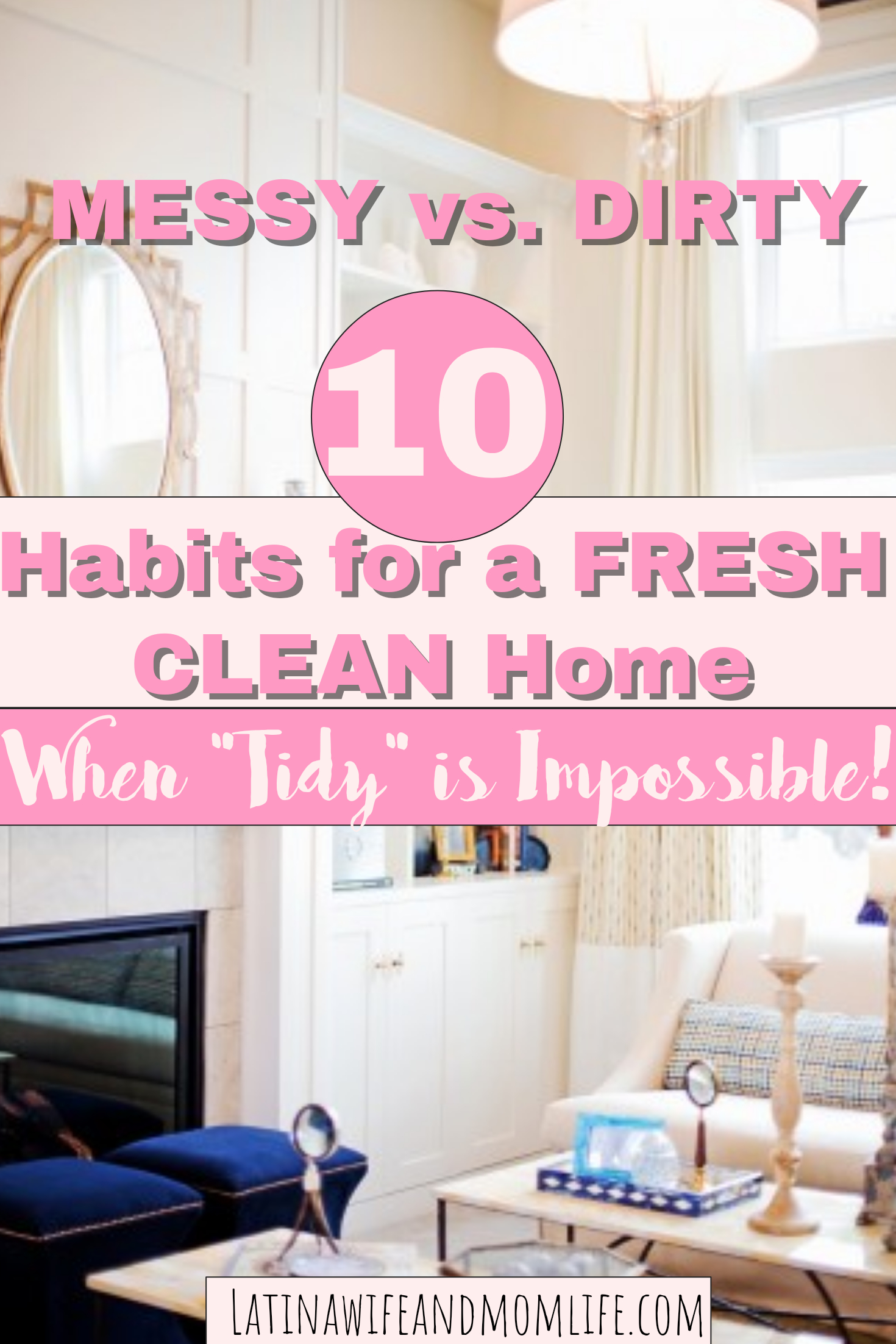 Are you done being guilty yet about your home not being able to stay clean? Don't miss the following 10 tips for a fresh clean home, if neatness is out!