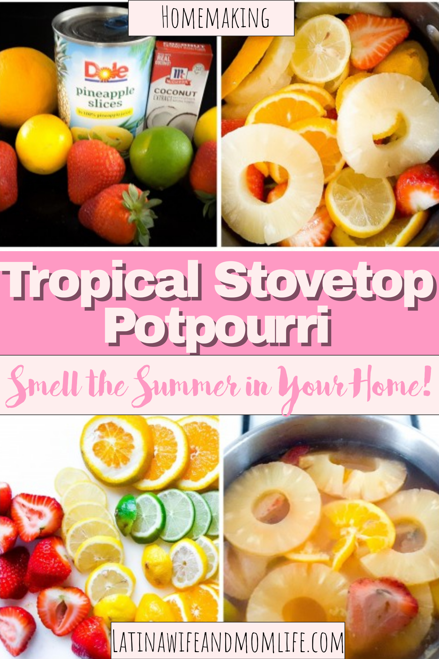 Did you know that 75% of emotions are triggered by smells? If you want a sense of freshness in your home, don't miss this DIY Tropical Stovetop Potpourri