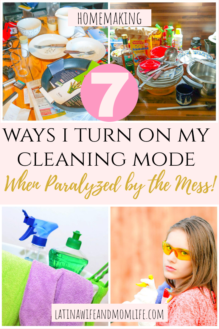 Does the magnitude of mess ever paralyze you to the point you can't even start cleaning? Here's how I turn on my cleaning mode!