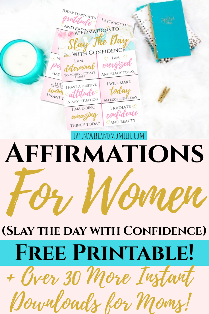 If you were genuinly aware of the degree of impact positive affirmations can be, you wouldn't let a day go by without 'em! Don't miss these free printables!