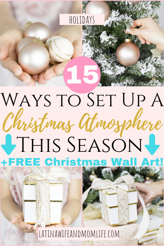 Wouldn't it be so nice to feel a sense of warmth and welcome in your home this season? Don't miss this list of ways to Create a Christmas Atmosphere!