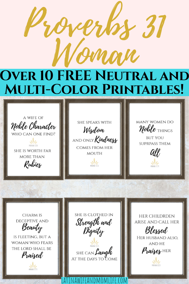 Proverbs 31 Woman Printables