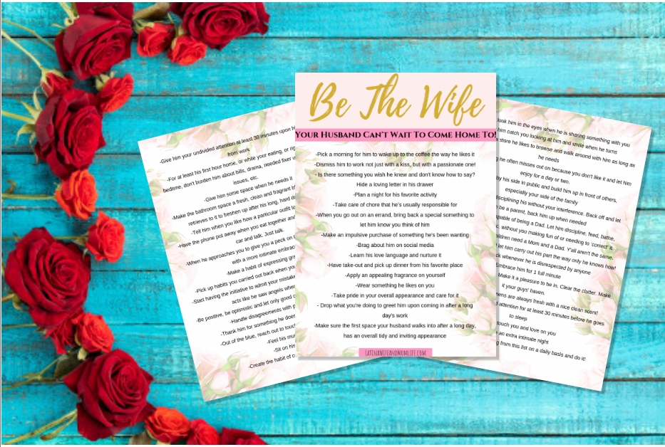 Hiw to be a good wife printable