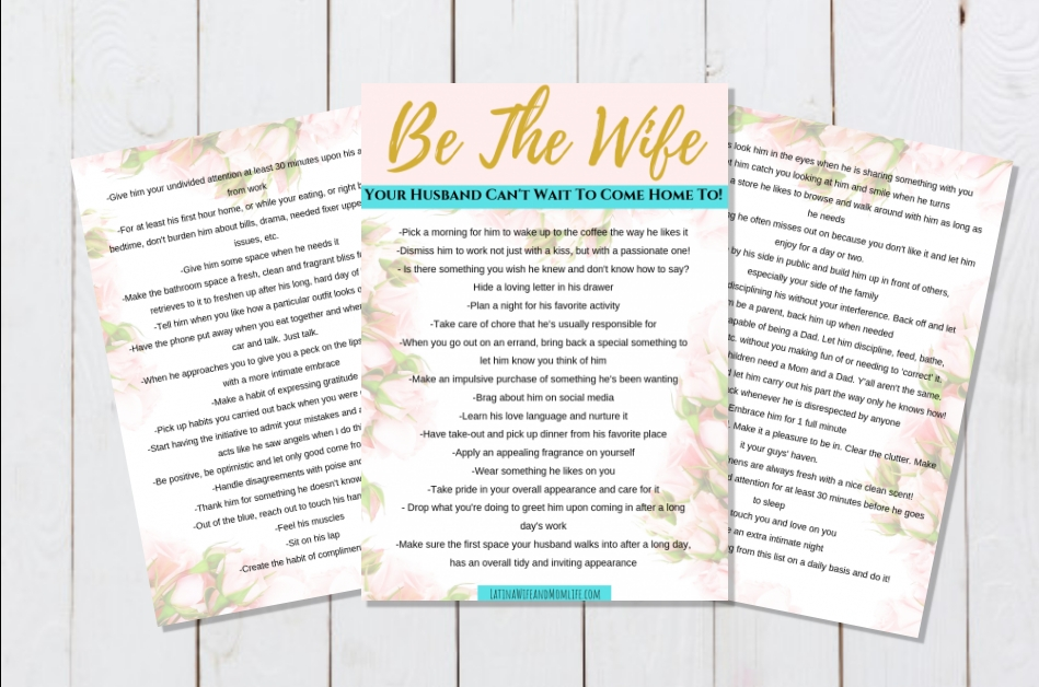How to be a good wife printable